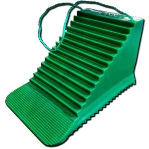 트럭 화물차 언덕 안전 녹색 버팀 받침대 고임목 초록