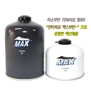 맥스이소부탄 230g24개 450g12개 캠핑 이소가스 부탄