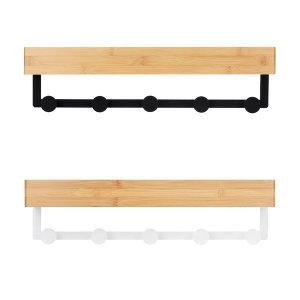 노바리빙 다용도 인테리어 대나무 벽걸이 수납 선반
