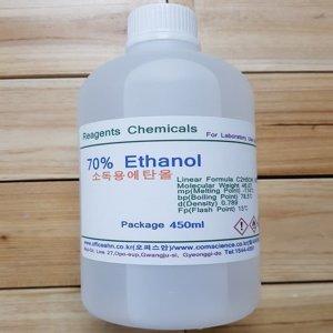 소독용알콜 소독용에탄올 70% 450ml 소독용에틸알콜