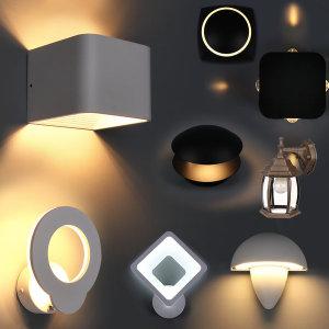 LED 벽등 복도등 베란다 육각 벽등