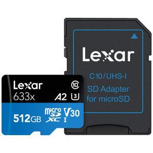 렉사 하이퍼포먼스 633x 마이크로SD카드 512GB 제공 특