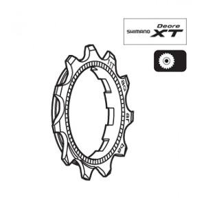 Shimano 스프라켓 Y1ZA11001 CS-M760 9단용 11T(AQ)