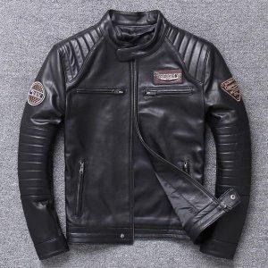 항공 할리 가죽 라이더 자켓 오토바이 점퍼 재킷