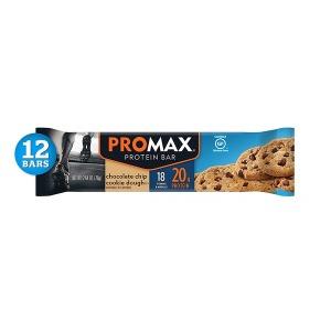 Promax 초콜렛칩 쿠키 고단백질 프로틴바 75g 12팩