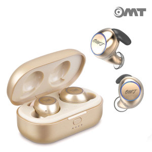 OMT 무선 5.0 터치 방수 블루투스이어폰 OBT-G3 골드