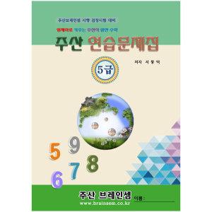 브레인 주산 암산 셈- 주산5급 교재  -문제집 책-수학