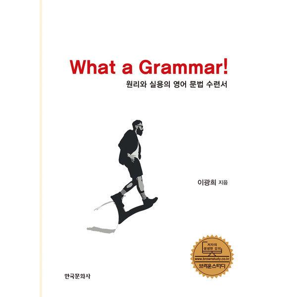 What a Grammar  한국문화사   이광희  원리와 실용의 영어 문법 수련서