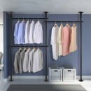 3단 스크류 행거 옷걸이 옷 헹거 드레스룸 시스템 M