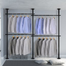4단 스크류 행거 옷걸이 옷 헹거 드레스룸 시스템 M