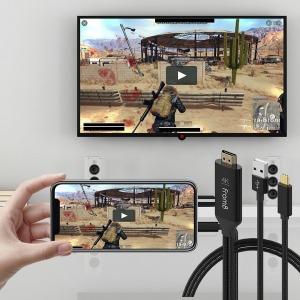USB C to HDMI 미러링 케이블 2M 충전하면서 즐겨라