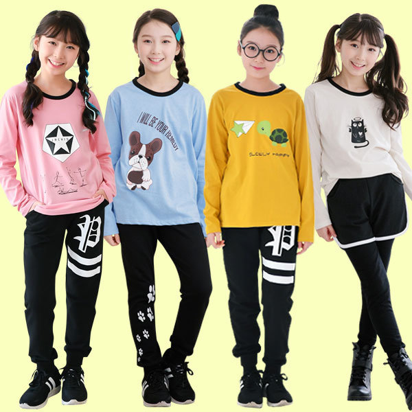 주니어여아 가을 BEST 상하복 초등학생 세트 의류 옷