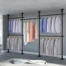5단 스크류 행거 옷걸이 옷 헹거 드레스룸 시스템 M
