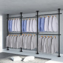 6단 스크류 행거 옷걸이 옷 헹거 드레스룸 시스템 M