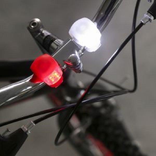 2p 실리콘 자전거 안전등 자전거후레쉬 후미등 자전거