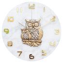 황금부엉이 벽시계 화이트 인테리어 벽걸이시계 (신상)
