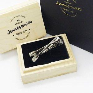 트윈패들 넥타이핀 남자쥬얼리 타이핀선물 선물용넥타