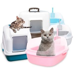 한큐뚝딱 고양이화장실 아이맥 후드형 평판형 대형