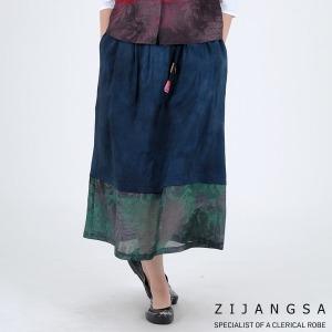 5135 여자 인견배색방울치마 패션한복 감성한복