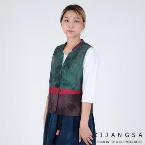 5134 여자 인견배색조끼 여름생활한복 개량한복