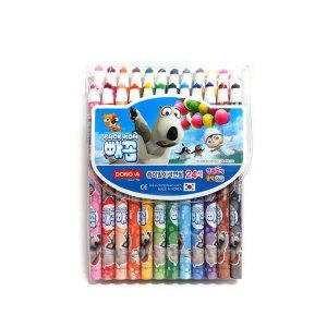 동아 빼꼼 24색 종이말이 색연필 (축지식)