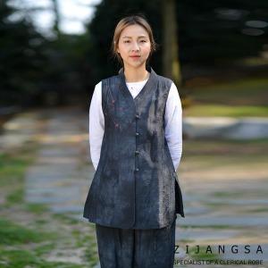 4146 인견자수롱조끼 여자생활한복 여름개량한복