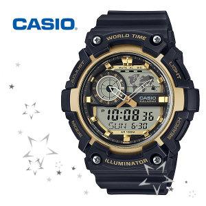카시오 AEQ-200W-9A 남성 우레탄 패션 손목 시계