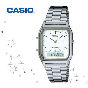 카시오 AQ-230A-7 남성 메탈 패션 손목 시계
