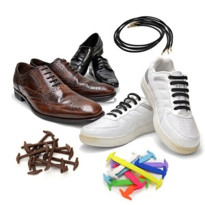 매듭없는 고무 실리콘 운동화 구두 신발끈