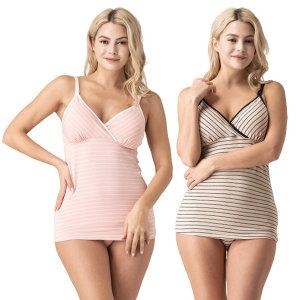 뉴니끄 면모달 원터치 스트라이프 수유나시 임부속옷