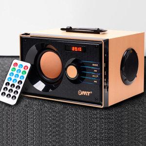 OMT 레트로 2.1채널 우드 블루투스스피커 OBS-RETRO