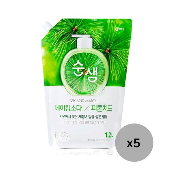 순샘 맥스앤매치 베이킹X피톤치드 1.2L 5개