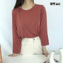 라운드 무지 심플 베이직 여성 기본티셔츠 도도무지티