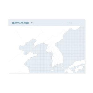 에이엠그라프 / 지도 떡메모지 / 우리나라 지도