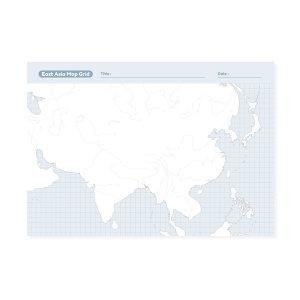 에이엠그라프 / 지도 떡메모지 / 동아시아 지도