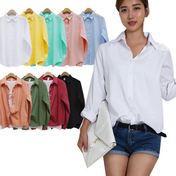 화이트셔츠/기본남방/흰남방/베이직셔츠 데일리셔츠