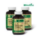오메가3 1100 비타민D 3병/혈행개선/혈중 중성지질