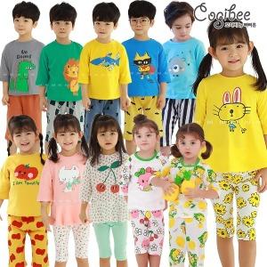 꼬지비 여름 실내복 아동내의 유아 아동잠옷 홈웨어