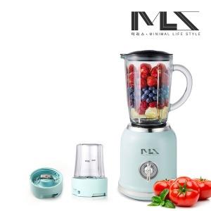 미라스 레트로 2in1 강화유리 믹서기 블렌더 MS001-BL