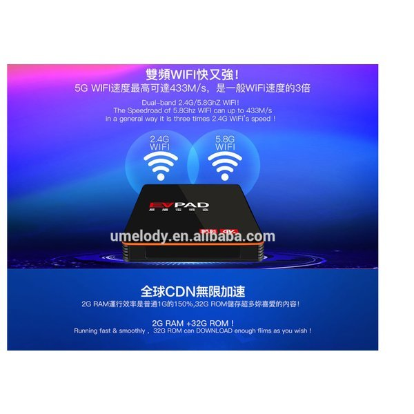 IPTV EVPAD3 PLUS 미디어 플레이어 무료 4K TV BOX