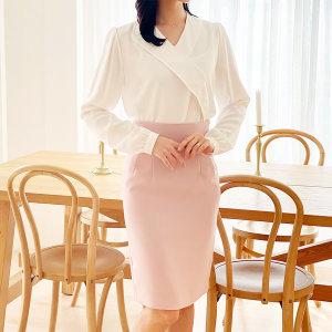 여성 하이웨스트 H라인 스커트 오피스룩 정장 치마