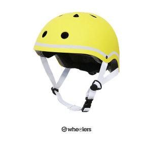 아동 성인용 인라인 스케이트보드 킥보드 헬멧 옐로우