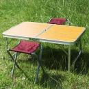 캠핑테이블(오크색상) 캠핑테이블 접이식 야외테이블