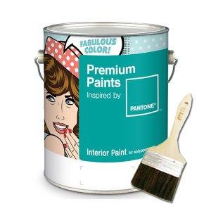 팬톤 수성 내부 벽지 벽면용 페인트 조색 1L