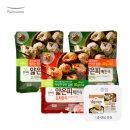 얇은피만두 혼합 6봉 (고기4개+김치2개) +증정