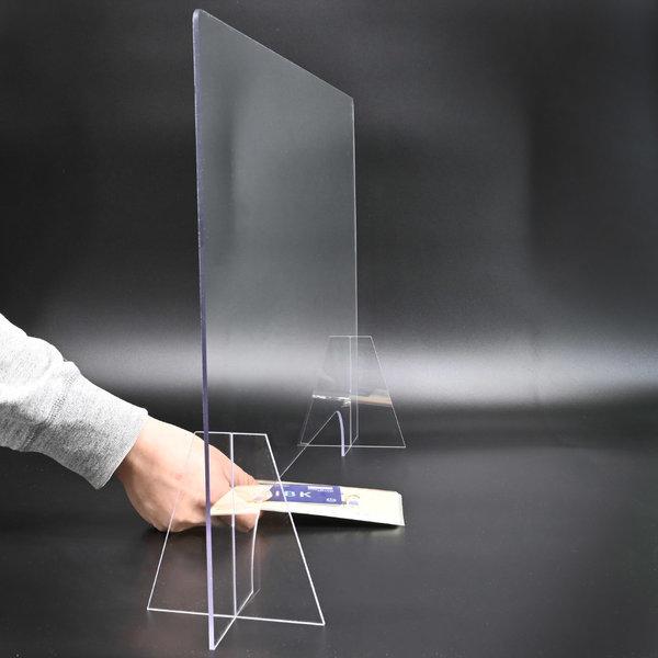 투명 가림막 칸막이 플라스틱 아크릴 판 600X500