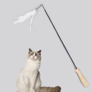 고양이 2단 깃털 낚시대 장난감