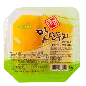 대창 맛단무지 (얇은 단무지) 300gX4개 / 국내산