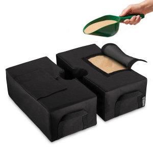 사각 모래주머니 샌드백 받침 모래가방 블랙(SB-2BK)