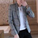 남성 자켓 슬림핏 정장 체크 빅사이즈 캐주얼재킷ir63